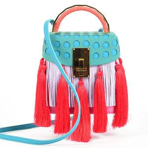 NWOT The Volon Tassel Great Leather Box Bag